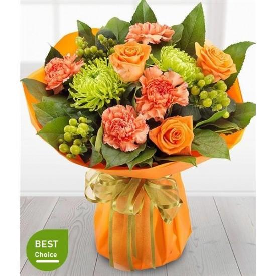 Orange World Vase Bouquet