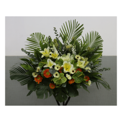 Funeral flower arrangement Rest in Peace