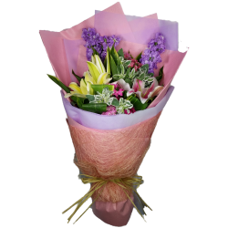 Mixed Lily Bouquet for Father