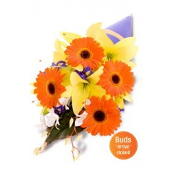 Mixed Bouquet , gerbera, lily and orchid