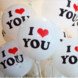 I Love You Helium Balloon